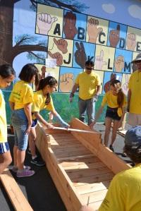 gscouts build garden